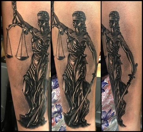 lady justice tattoo justice inkfreakz tattoos