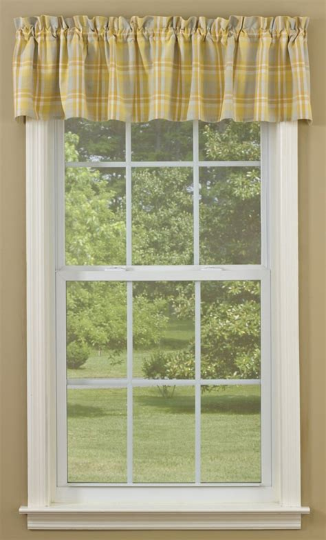park designs valances farm house chic chamomile valance by park designs 72x14 yellow gray parks chic and yellow