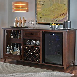 bar cabinet with fridge space firenze wine and spirits credenza with 28 bottle