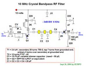 10mhz crystalk bandpass rf filter basic circuit circuit diagram seekic