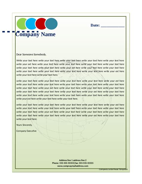business letterhead format 2018 business letterhead templates fillable printable