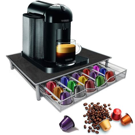 nespresso capsule drawer uk uk coffee machine stand capsule pod nespresso dolce gusto