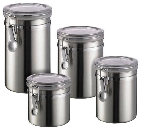 contemporary kitchen canisters what are the advantages of stainless steel food storage