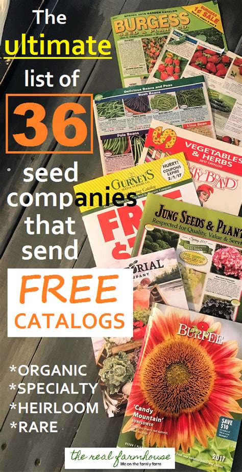 Garden Plants Catalogs by How To Get Free Seed Catalogs