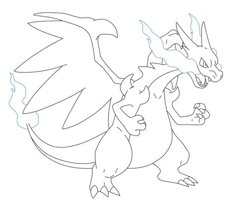 charizard template mega charizard x coloring sheet coloring pages