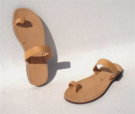 Toe Sandal mens leather sandals with toe loop leather sandals
