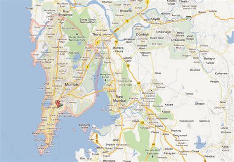 mumbai map satellite mumbai map