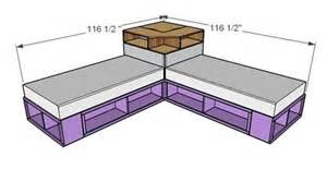 Ana white diy space saving corner unit for the twin storage bed