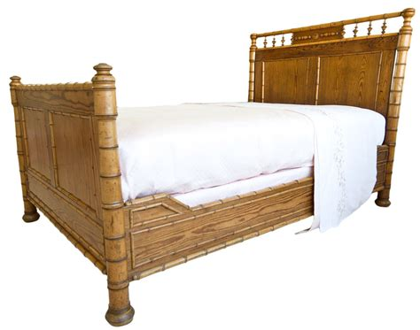 Bamboo Bunk Beds 19th Century Pine Faux Bamboo Bed Traditional Beds Dering