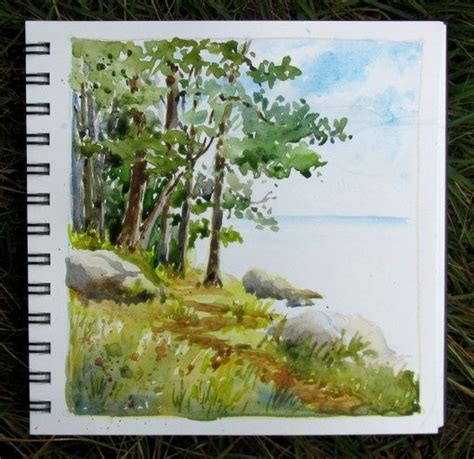 watercolor lake tutorial i visited my mother last week at alpine lake west