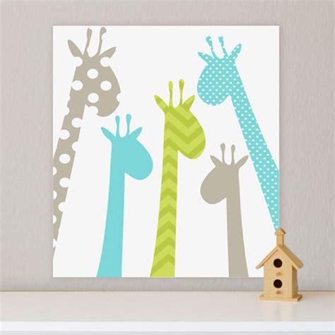 Giraffe Decor For Nursery Giraffe Children S Wall Nursery Wall Giraffe
