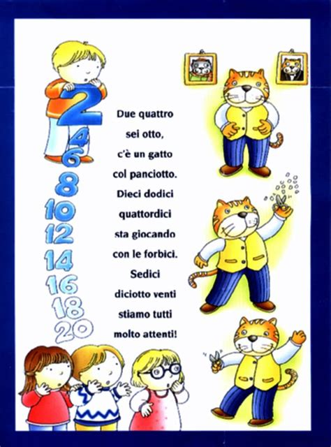 tabelline canterine testi impara le tabelline con le filastrocche focusjunior it