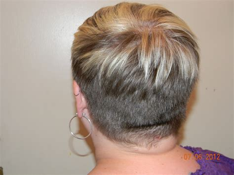 nape hair images on women pixie cut with buzzed nape
