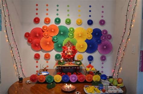 homes decoration ideas best ganpati decoration ideas for small home ecofriendly