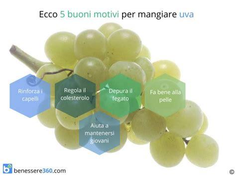 calorie uva da tavola uva propriet 224 calorie valori nutrizionali benefici e