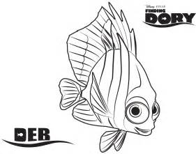 damselfish deb in finding dory and nemo coloring page