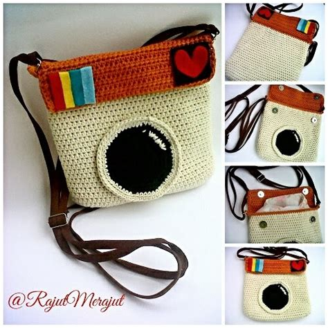 Tas Rajut Strawberry Mini crochet bag instagram rajutmerajut