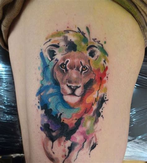lion tattoo on thigh tattoos designs pictures page 4