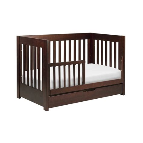 Babyletto Mercer 3 In 1 Convertible Wood Crib In Espresso Wood Convertible Cribs