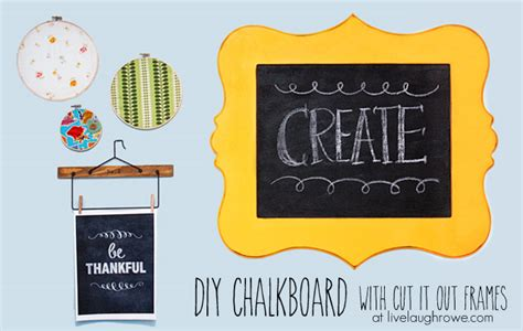 diy chalkboard using plywood diy chalkboard with cut it out frames live laugh rowe