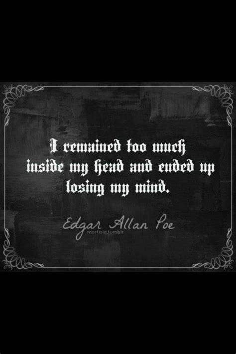 Edgar Allen Poe Quote | Poe quotes, Quotes, Me quotes