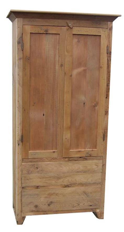 Reclaimed Wood Armoire by Reclaimed Barnwood Armoire