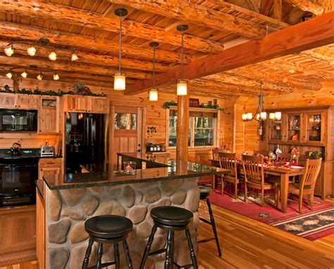 small log home interiors beautiful log cabin dining rooms