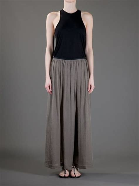 forte forte pleated maxi skirt in gray grey lyst
