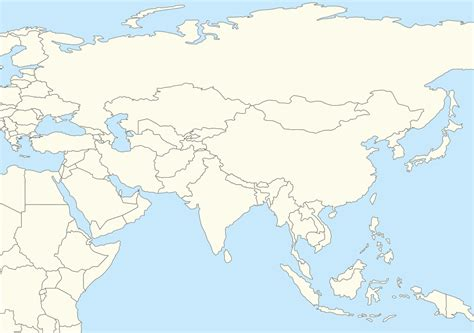 blank physical map of asia blank map of asia and middle east