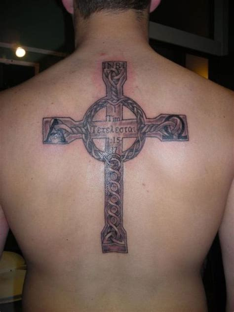 cross tattoos back 25 peaceful christian tattoos for creativefan