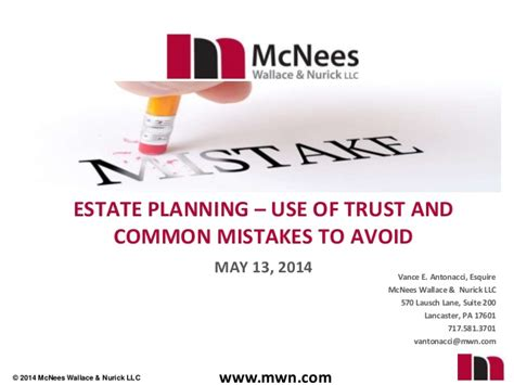 10 Most Common Estate Planning Mistakes And How To Avoid Them estate planning use of trust and common mistakes to avoid