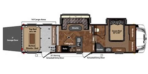 keystone fuzion floor plans 2011 keystone fuzion 302 trailer reviews prices and