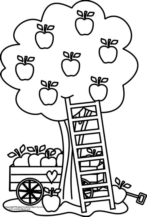 Apple Orchard Coloring Page | apple orchard coloring page coloring page for kids kids