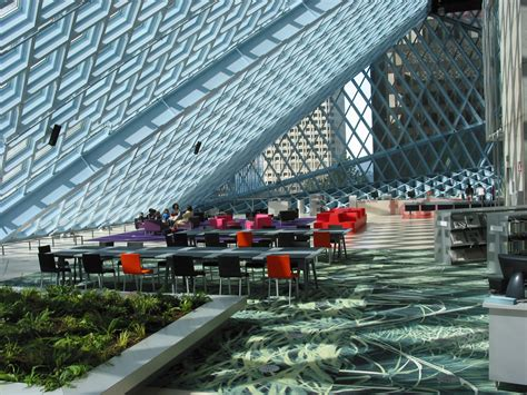 Seattle Library Living Room Seattle Library Inside Outside