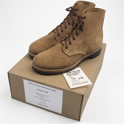 wwii type iii roughout boots made in usa atf