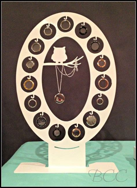 Origami Owl Necklace Display - 15 locket owl display large o pink limited quantities