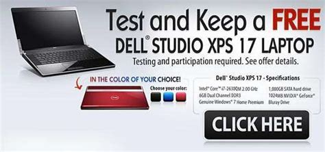 Free Dell Laptop Giveaway - beware of the free dell studio xps giveaway scam techjaws seo computer security