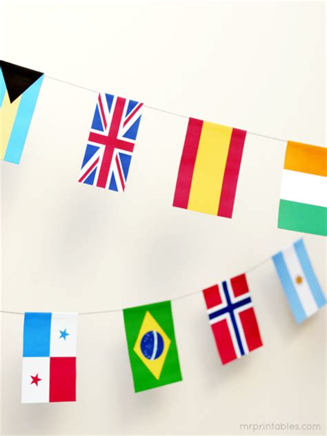printable flags of the world bunting world flags pictures printable