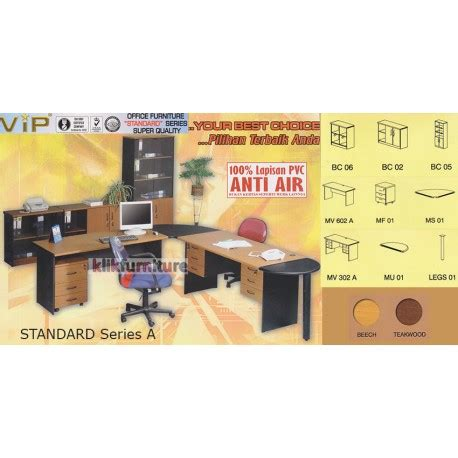 set meja kantor standard series  vip harga agen