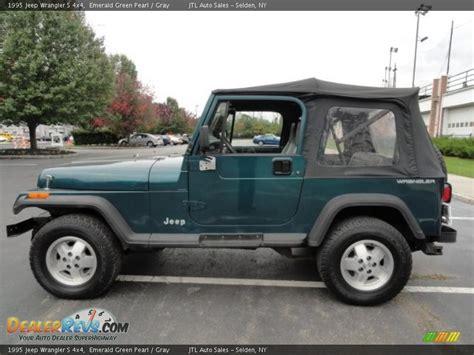 1995 Jeep Wrangler Green Emerald Green Pearl 1995 Jeep Wrangler S 4x4 Photo 3