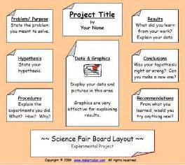 science fair poster board template science fair information science fair project display