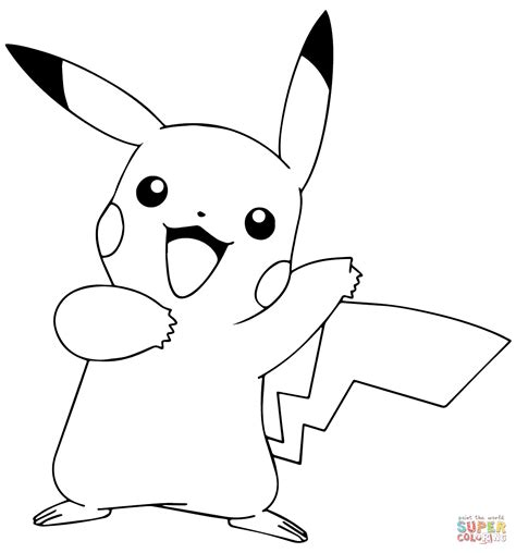 pokemon pikachu coloring pages to print coloring pages