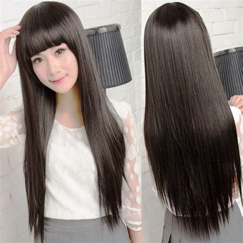 Model Rambut Rata Panjang model rambut panjang dengan poni rata model rambut id