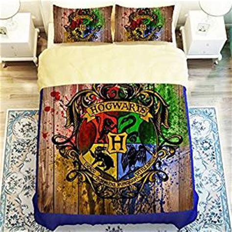 harry potter queen bed set amazon com custom harry potter 4 piece duvet cover set