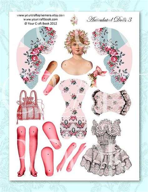 printable jointed paper doll 780 best paper doll jointed images on pinterest jumping