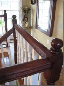 how to restain wood banister staining an oak banister southern hospitality