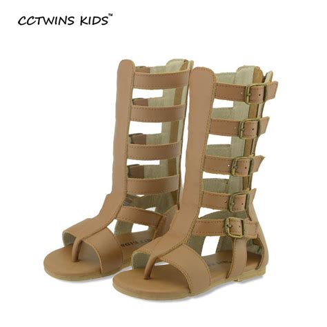 knee high gladiator sandals for sale aliexpress buy cctwins sandals children