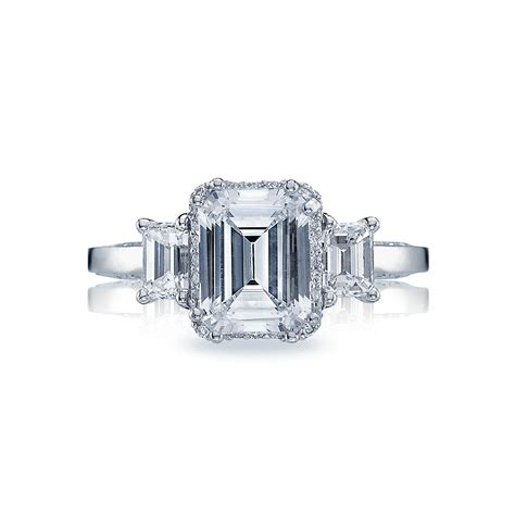 tacori dantela emerald cut three setting