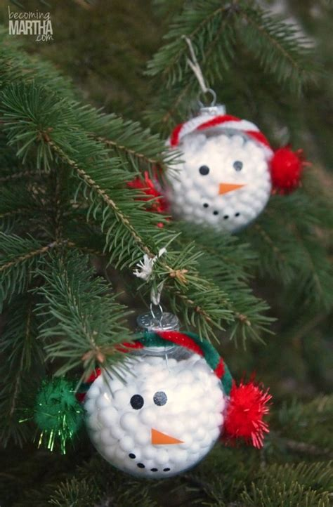 Handmade Snowman Ornaments - 13 handmade ornaments using vinyl