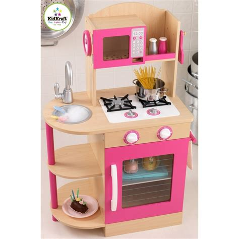 Pink Wooden Kitchen by Dreamfurniture Pink Wooden Kitchen
